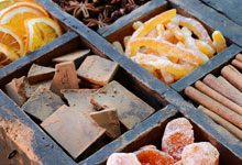 Assortment of candied fruit peel