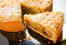 Pastel de Manzana en Almíbar