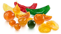 Frutas nobles confitadas