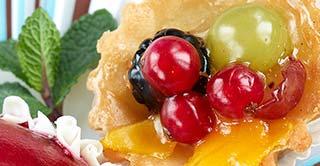 Pasteles hojaldrados hechos con frutas confitadas sin azúcar de Lazaya.