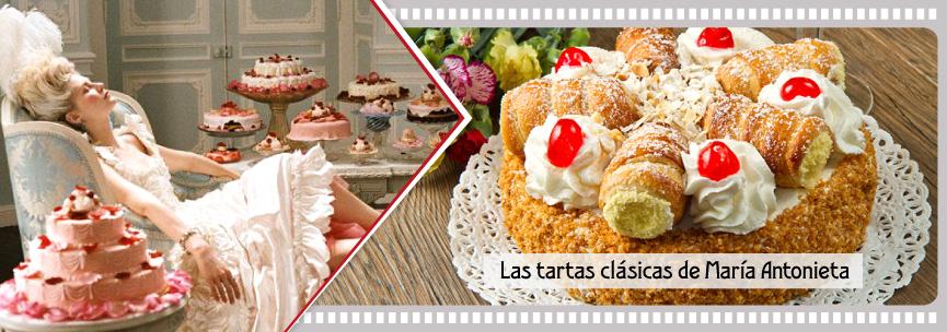 Cerezas confitadas en las tartas clásicas de la película María Antonieta.