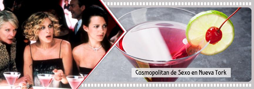 Los cócteles Cosmopolitan de Sexo en Nueva York.