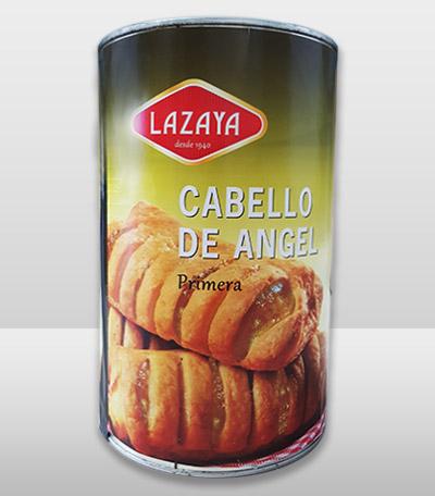 Uno de los envases de cabello de ángel de Lazaya.