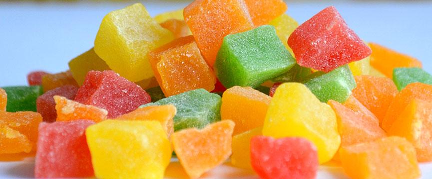 Cómo utilizar los cubitos de fruta confitada