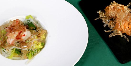 Receta con verduras confitadas Ensalada oriental con cebolla confitada