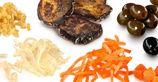 platos con verduras confitadas de la máxima calidad