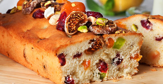 candied fruit cubes in fruit cake