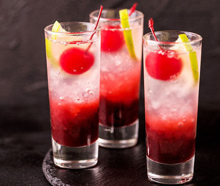 Maraschino cherry makes cocktails more attractive.