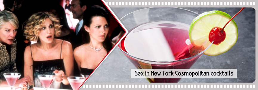 Sex in New York Cosmopolitan cocktails take a glace cherry as well...