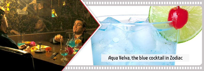 Aqua Velva cocktail takes its name from a cheap blue aftershave...