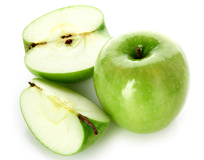 Granny Smith is the perfect variety to make apple in syrup.
