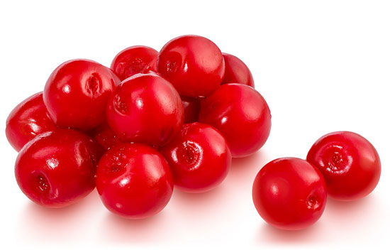 Red cherries in syrup